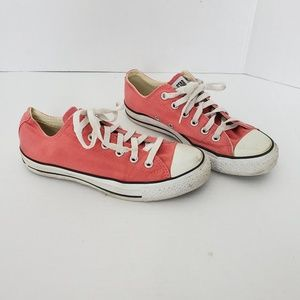 Converse Allstar Unisex Pink Lace Up Sneaker Shoes